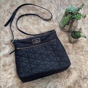 Kate Spade black nylon cross body purse